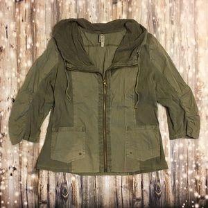 XCVI grey/brown utility type zip up jacket